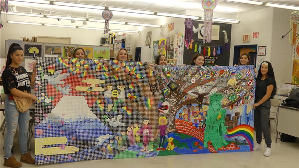 Marlboro students display their mural