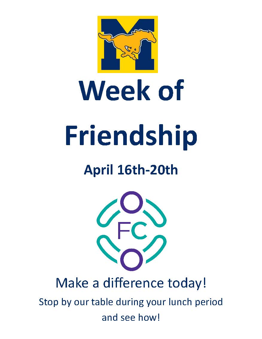 Week of Friendship- April 16-20, 2018