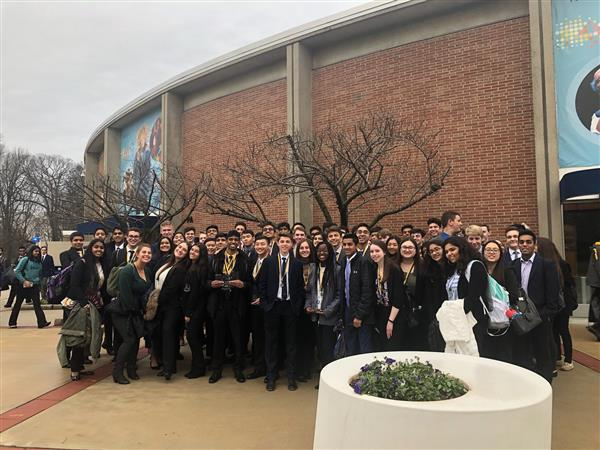 Marlboro DECA students outside competition