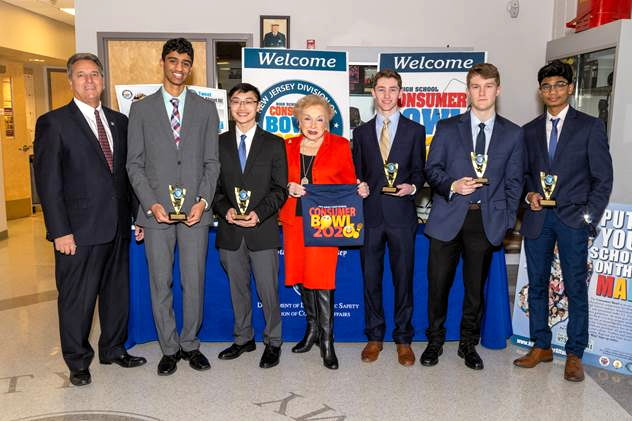 Marlboro's consumer bowl team with freeholders