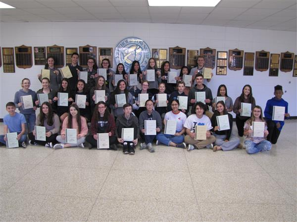 Freehold Township's students who earned honors during the National Latin Exam