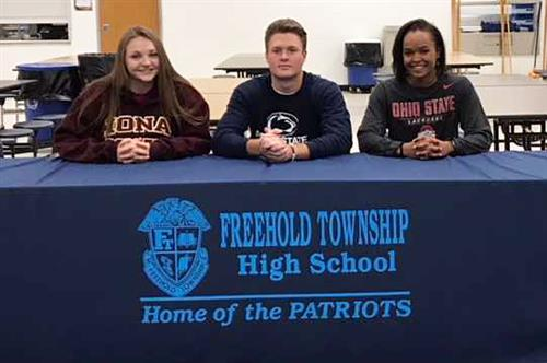 Three Freehold Township HS Seniors Receive National Letters of Intent