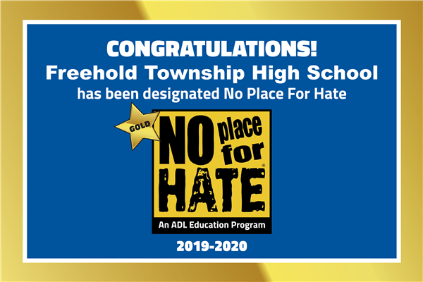 Freehold Township No Place for Hate Gold Star
