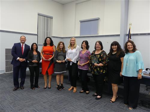Support Staff Members of the Year with FRHSD Administrators