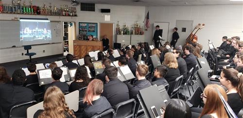 Howell High School during the Virtual Concert