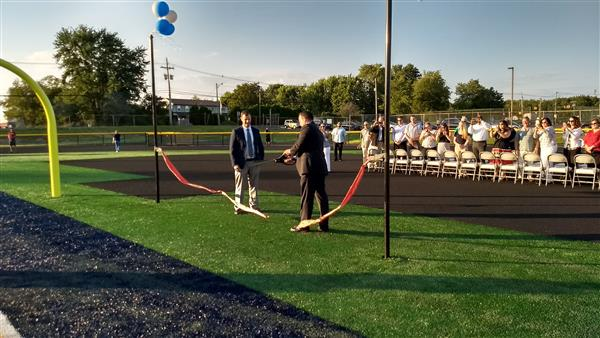 HHS Principal Jeremy Braverman and FRHSD Superintendent Charles Sampson cutting ribbon