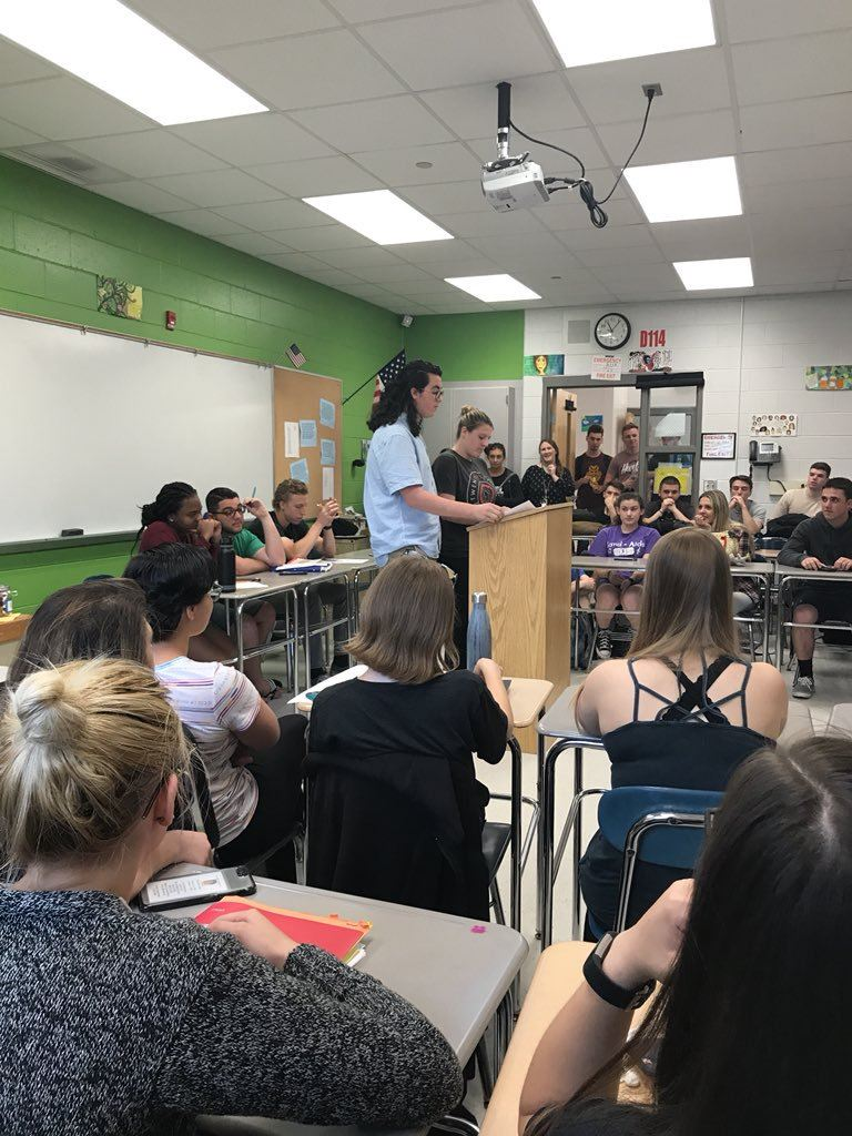 Humanities students debate