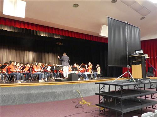 Manalapan's band during the Virtual Concert