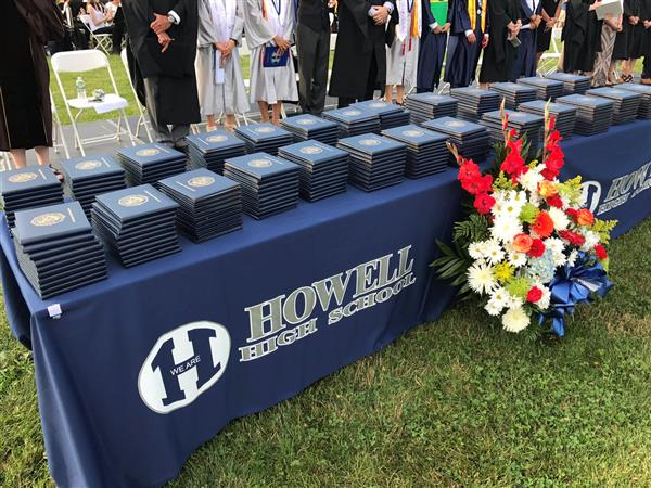 howell diplomas lined up