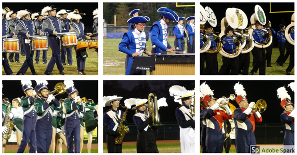Band festival collage