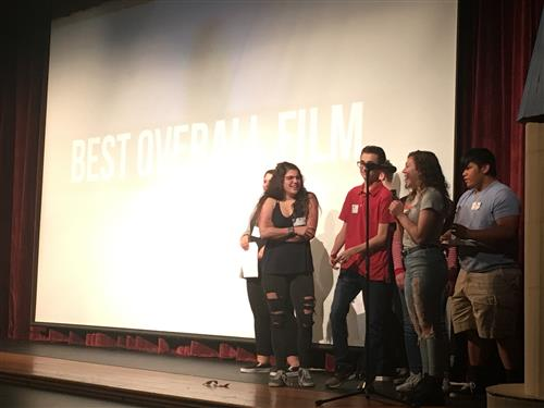 Accepting the Best Overall Film Award