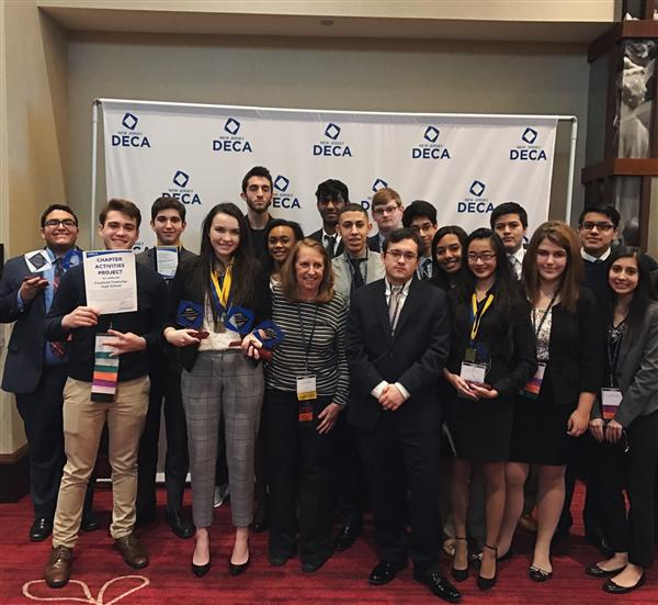 Freehold Township DECA students at the state competition