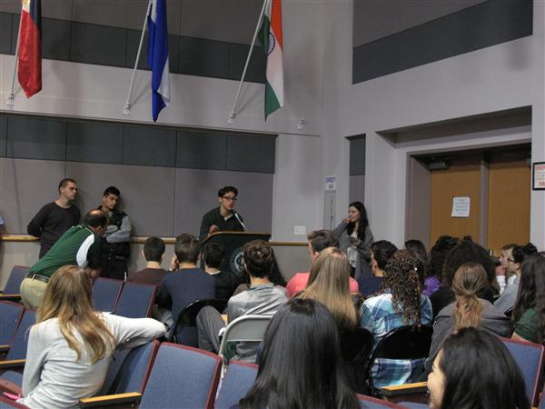 Students at CNHS hosted their own presidential debates