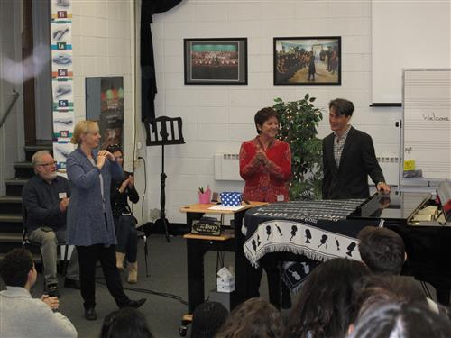 Sibylle Szaggars Redford Speaks to Howell High School Students