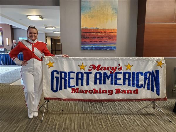 Alexa Poling will be performing with the Great American Marching Band on Thanksgiving Day
