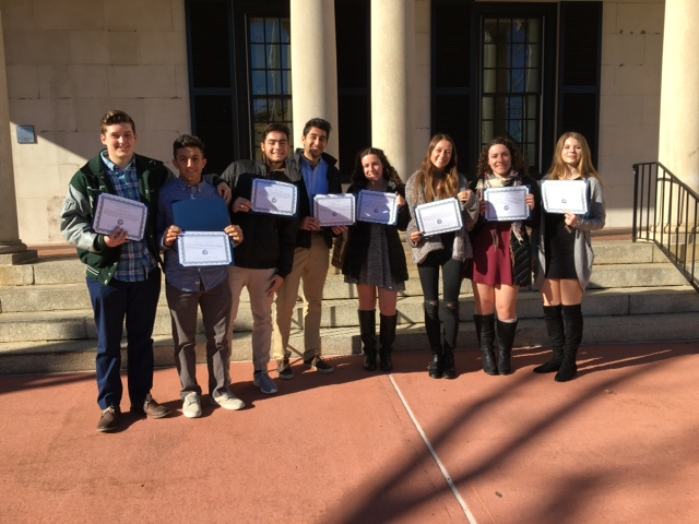 LPS Interns pose with certificates