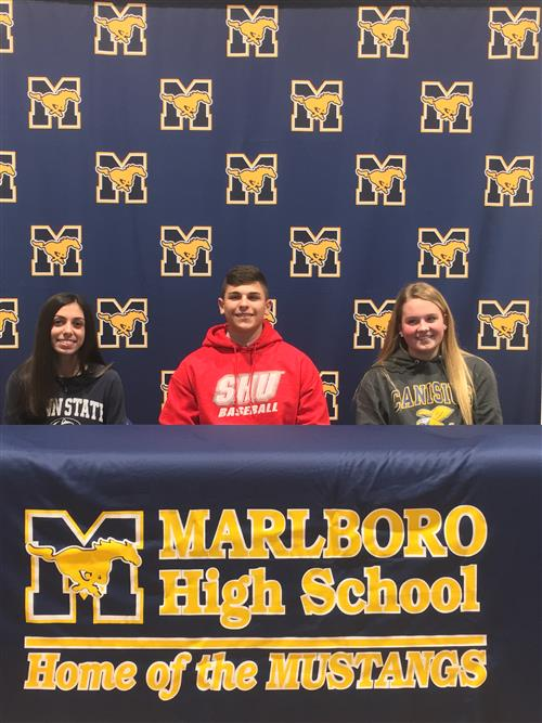 Three Marlboro HS Seniors Receive National Letters of Intent