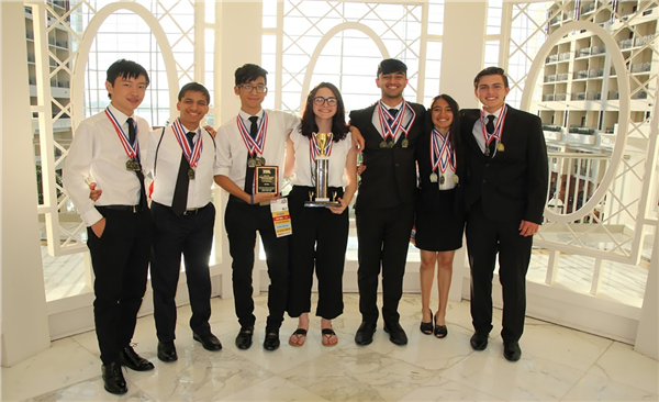 Manalapan's TSA students at the national competition