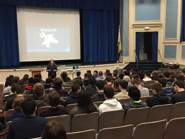 Heather Shapiro speaks to FHS students