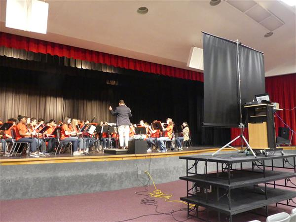 Manalapan's Band performs in the virtual concert