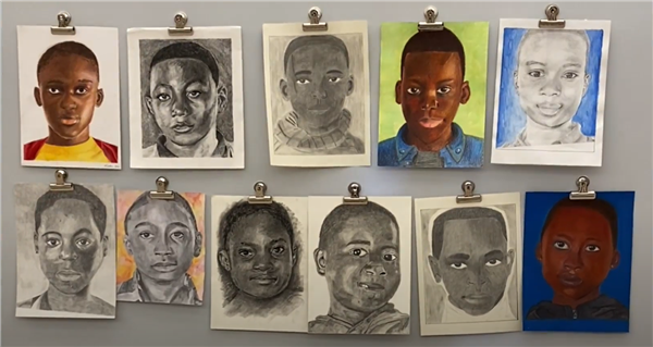 Samples of the portraits of Cameroonian children