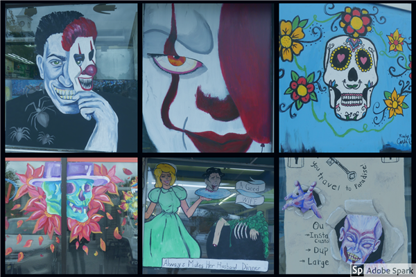 Collage of the winning paintings