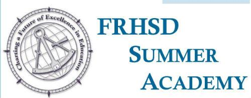 FRHSD Summer Academy with District Seal
