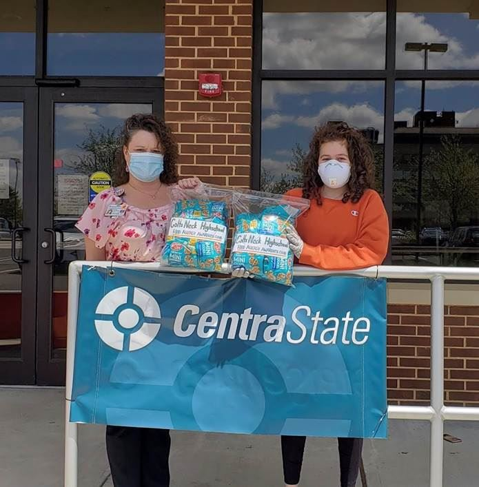accepting donation at CentraState