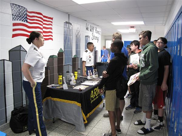 booth at college fair