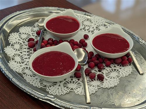 Cranberry sauce in bowls