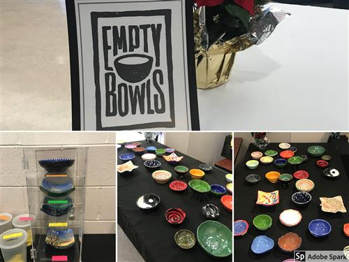 Collage of the various handcrafted bowls