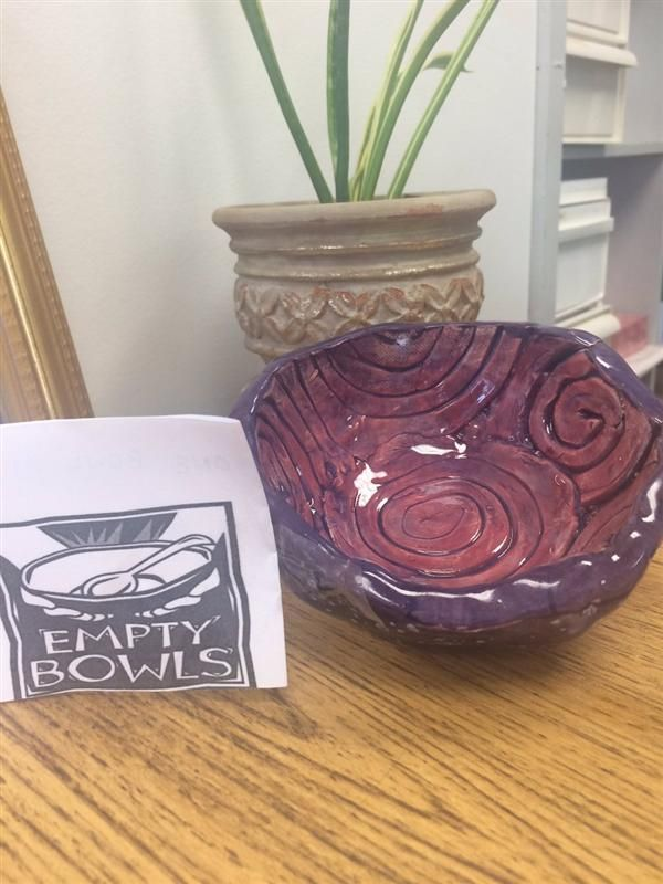 One of the bowls available during Empty Bowls