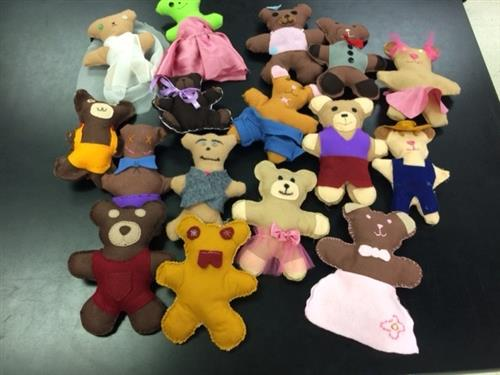 The teddy bears Fashion students created