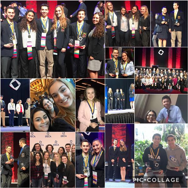 collage of images from DECA competition