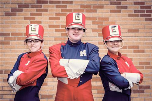 Lily Joniaux, Claudia MacRae and Zachary Sloan will perform with the Great American Marching Band