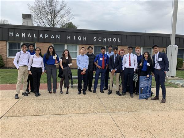 Manalapan's TSA students outside the school