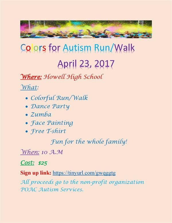 Colors for Autism Run/Walk