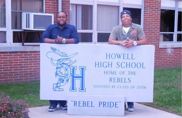 Mr. Simons and Mr. Llanos at Howell High School