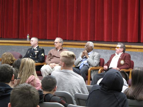 Veterans spoke with students at Manalapan High School